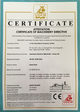 A-HOT HAND BLOW TORCH CE CERTIFICATE
