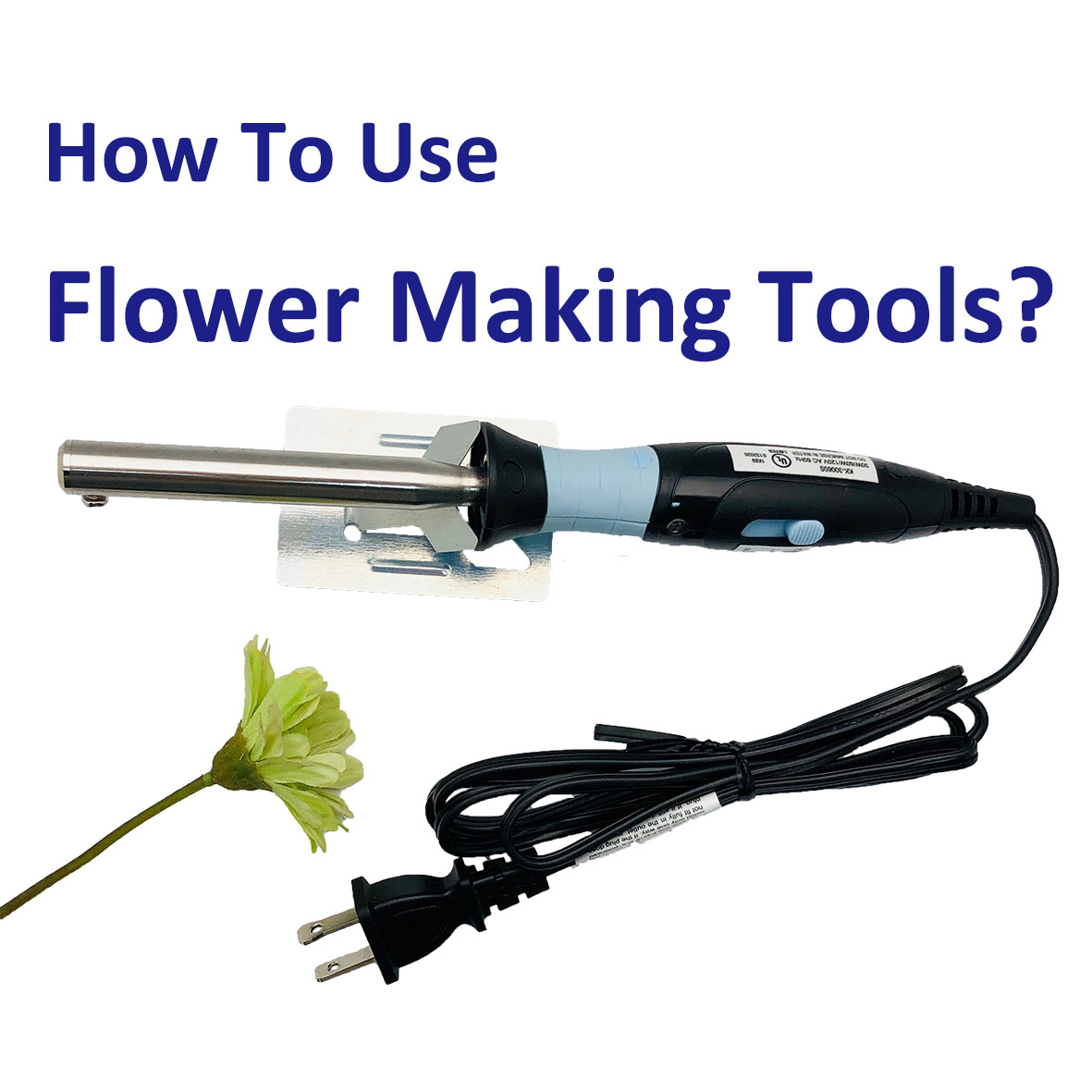 How to use flower making tools